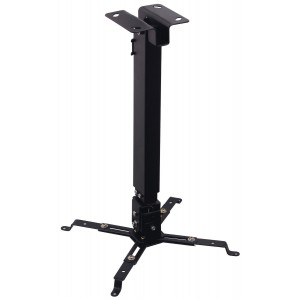 VonHaus Universal Projector Ceiling Mount, Adjustable Height up to 25.5 inches, Swivels 30 Degrees and Tilts 15 Degrees