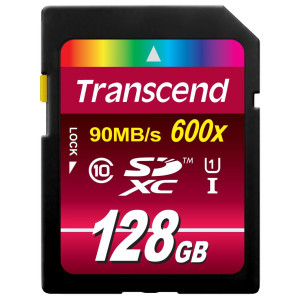 Transcend 128GB SDXC Class 10 UHS-1 Flash Memory Card Up to 90MB/s (TS128GSDXC10U1)