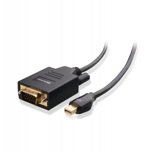 Cable Matters Mini DisplayPort (Thunderbolt™ 2 port Compatible) to VGA Cable in Black 3 Feet