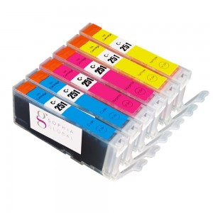 Sophia Global Compatible Ink Cartridge Replacement for Canon CLI-251 (2 Cyan, 2 Magenta, 2 Yellow)