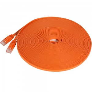 Fosmon Technology Fosmon (50 Feet - Orange) RJ45 CAT6 Snagless Ethernet Patch Cable [FLAT Tangle Free] - Ultra Speed