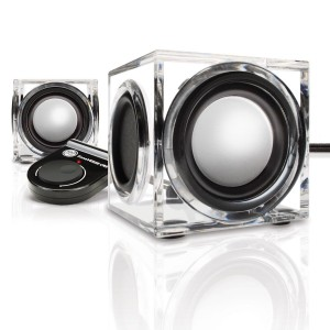 Accessory Power GOgroove CRS USB Powered Computer Speakers with Modern Acrylic Housing and Dual Drivers - Works wi