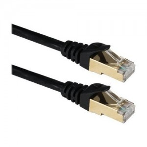 Ultra Clarity Cables CAT7 15FT Lan Cable ( 15 FEET / 5 Meters ) Cat 7 Shielded ( SSTP ) 5M Ethernet Patch Black Network