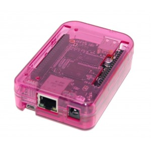NEW! Case for BeagleBone Black Transparent (Pink) assemble in 30 seconds by SB Components