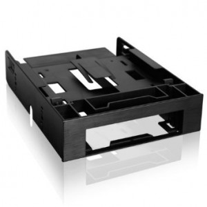 "ICY DOCK FLEX-FIT Trio MB343SP Dual 2.5"" HDD/SSD and One 3.5"" HDD/Device Front Bay to 5.25"" Bay Converter/ Mounting Kit"