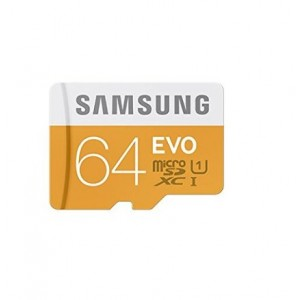 Samsung Memory 64GB Evo MicroSDHC UHS-I Grade  1 Class 10 Memory Card without Adapter