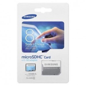 Samsung 8GB microSDHC Card with Adapter