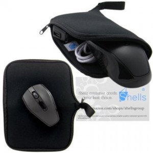 Shells Group Shells Classy Black Color A3 Neoprene Soft Magic Mouse Bag Multi-functional Digital Bag Waterproof