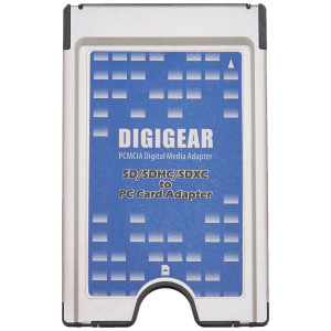 Digigear SD SDHC SDXC to PCMCIA PC Card, Adapter Supports, ATA Flash Memory
