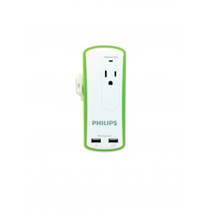 Philips SPP6020A/37 Travel Surge Protector with USB