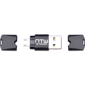 Twingo by NTW - Twin USB On-the-Go Swappable Micro SD Card Reader, USB and Micro USB - NUST2-AMC-MMCBK