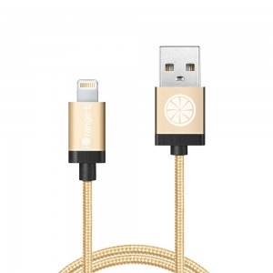 iPhone Charger, iOrange-E Apple Certified 3.3ft (1M) Braided Cable for iPhone 6 6S Plus 5S 5C 5, iPad Air, iPad 4th Gen,iPad Pro, iPad Mini 4, and iPod Nano 7th Gen, Full Golden
