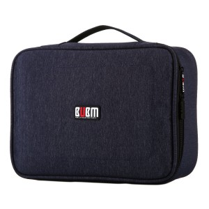 BUBM Large Electronic Accessories Carrying Bag with Cable Tie- Dark Blue