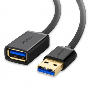 Ugreen USB 3.0 Extension Cable A Male to A Female USB Extender Cord 3 feet (1m) Black