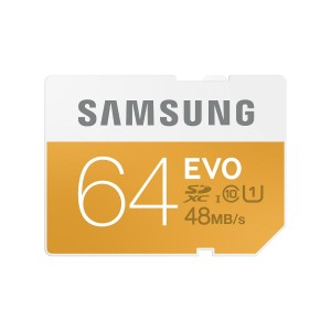 Samsung 64GB EVO Class 10 SDXC Card up to 48MB/s (MB-SP64D/AM)