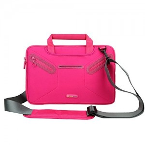 Evecase Surface Pro 3 / Surface Pro 4 Shoulder Bag, Multi-functional Fully Padded Neoprene Messenger Briefcase Case w/ Handle and Shoulder Strap for Microsoft Surface Pro 3 / Pro 4 Tablet - Hot Pink
