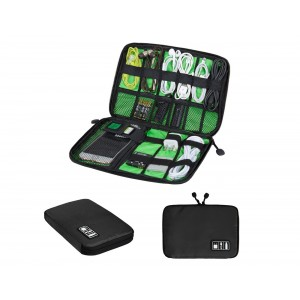 ECOSUSI Travel Organizer for Electronics Accessories Hard Drives (Black)
