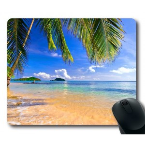oblong shaped mouse pad Gaming Mouse Pad Shore Palms Tropical Beach Oblong Shaped Mouse Mat Design Natural Eco Rubber Dura