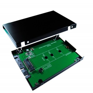 "ZTC Sky 2.5"" Enclosure M.2 (NGFF) SSD to SATA III Board Adapter. Multi Size Fit with High Speed 6.0GB/s. Model ZTC-EN006"