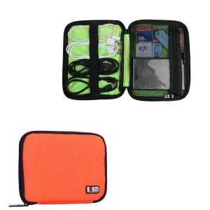 BUBM MINI Hard Drive Carry Bag / Cable Stable / Handbag Organizers / Phone case (Mini, Orange)