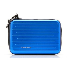 """KAYOND Anti-shock Silver Aluminium Carry Travel Protective Storage Case Bag for 2.5"""" Inch Portable External Hard Drive HDD USB 2.0/3.0 (blue)"""