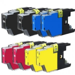 Generic New Set of 8 LC75 High Yield Compatible Ink Cartridge Combo