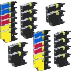Generic Set of 24 pack LC75 High Yield Compatible Ink Cartridge Combo 12xBk, 4xC, 4xM and 4xY