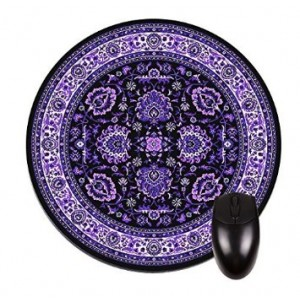 Lea Elliot Inc. 005 Rug Print-Purple-Round Mousepad-Great Office Accessory and Gift!