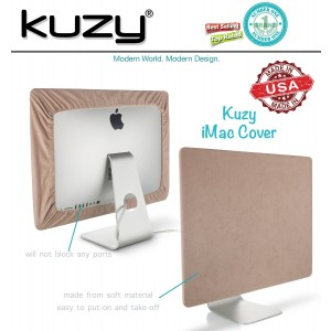 "Kuzy - SAND Brown Screen Cover for iMac 21.5"" or iMac 20"" Dust Cover Display Protector (A1224, A1311, A1418) - Sand 21.5"""