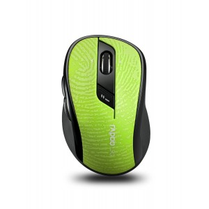 Arion Rapoo 7100P 5.8GHz Wireless Mouse With 4D Scroll Wheel Optical Engine Programmable buttons for Laptops Desktops and Tablet- Green