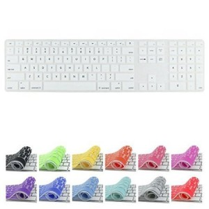 All-inside White Keyboard Cover for iMac Wired USB Keyboard