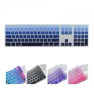 All-inside Ombre Blue Keyboard Cover for iMac Wired USB Keyboard