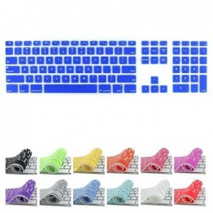 All-inside Dark Blue Keyboard Cover for iMac Wired USB Keyboard