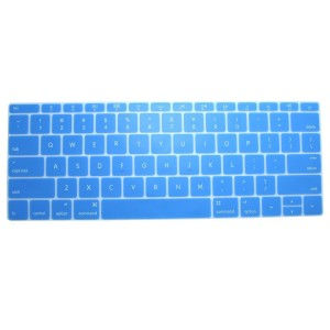 CaseBuy Retina 12-Inch Keyboard Protector Silicone Cover Skin for New Macbook 12 Inch A1534 and New MacBook Pro 13 Inch A1708 (2016 Version, No TouchBar) (Semi-Aqua Blue)