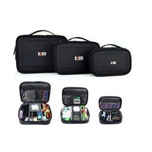 Keyma 3pcs/set Portable Electronic Accessories Hdd Travel Organizer Case Multi-functional Digital Storage Bag