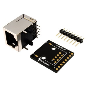 NulSom Inc. RJ45 8-pin Connector (8P8C) and Breakout Board Kit for Ethernet DMX-512 RS-485 RS-422 RS-232 (Unas