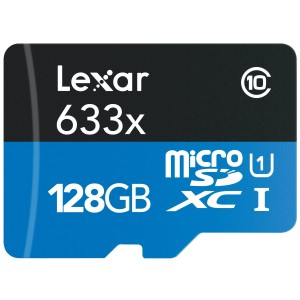 Lexar High-Performance microSDXC 633x 128GB UHS-I, U1 w/USB 3.0 Reader Flash Memory Card - LSDMI128B1NL633R