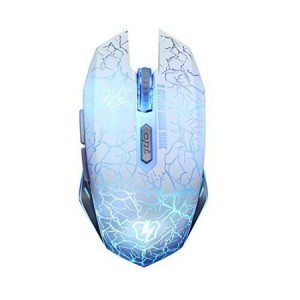 LETTON S1 USB PC Gaming Mouse with LED Lights Braided Cable(White)