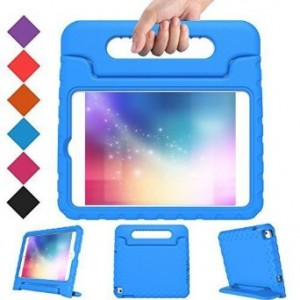 BMOUO iPad Mini 4 Case - Kids Shock Proof Light Weight Super Protection Case Cover Handle Stand for Kids Children for Apple iPad Mini 4 2015 Tablet - Blue Color