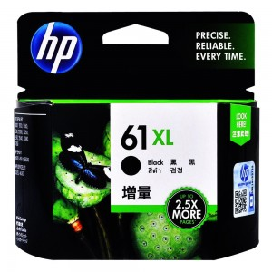 HP 61XL Black High Yield Original Ink Cartridge CH563 in Genuine Retail Packaging