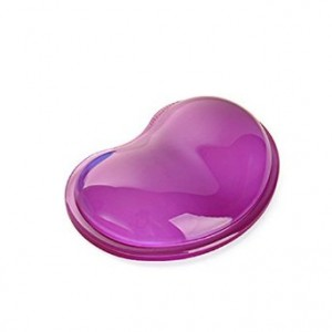 Glantop(TM) Cute Purple Color Transparent Jelly Silicone Heart-shaped Crystal Wrist Mouse Pad Wristbands Gel Wrist-protected Hand Pillow Computer Mice Pad Anti-fatigue 3D Mousepad