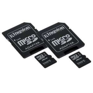 Transcend LG G STYLO Cell Phone Memory Card 2 x 16GB microSDHC Memory Card with SD Adapter (2 Pack)