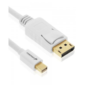 Fosmon Technology Fosmon - UL Certified - Gold Plated Mini DisplayPort (Mini DP/mDP) to Displayport Cable - 30AWG |