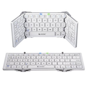 ESYNIC Foldable Bluetooth Keyboard Portable Wireless Keyboard Folding Keyboard Slim with Stand Case for Android Windows IOS Tablet Smartphone Samsung Galaxy Pro iPad iPhone 7 7plus