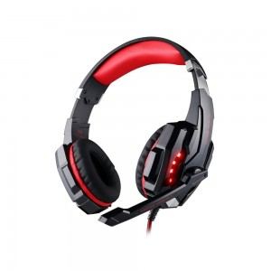 Each 3.5 mm Gaming Headphones headset headband with Microphone and LED Light for PlayStation 4 PS4 Tablet PC iPhone 6/6s/6 plus/5s/5c/5 Mobile phones Black+Red