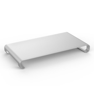 MoKo Monitor Riser Stand, Universal Aluminium Steady Monitor / Laptop / iMac / MacBook / PC Stand, with Keyboard Storage, SILVER