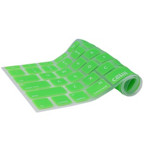 Casiii Ultrathin MacBook Pro Keyboard Cover for Macbook, Macbook Pro, Macbook Air, Macbook wireless keyboard and iMac, 13 15 and 17 Inch, With / Without Retina, Engineer-Quality Silicone (Green)
