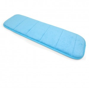 SUMLINK Loving High Density Space Memory Cotton Mats Keyboard Pads Computer Wrist Elbow Pad Lying Sleeping Pad for Office Table Computer Desktop (7.9 x 23.6 Inch) (Blue)