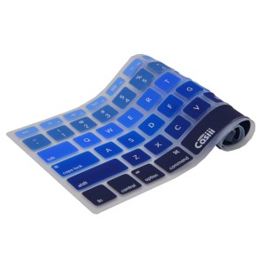 Casiii Ultrathin MacBook Pro Keyboard Cover for Macbook, Macbook Pro, Macbook Air, Macbook wireless keyboard and iMac, 13 15 and 17 Inch, With / Without Retina, Engineer-Quality Silicone (Blue Ombre)