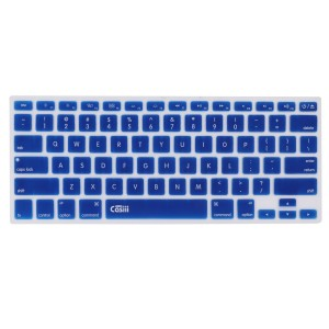 Casiii Ultrathin MacBook Pro Keyboard Cover for Macbook, Macbook Pro, Macbook Air, Macbook wireless keyboard and iMac, 13 15 and 17 Inch, With / Without Retina, Engineer-Quality Silicone (Navy Blue)